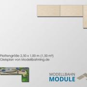 Fertigmodul mit Gleisplan kleiner Betriebsintensiver Endbahnhof