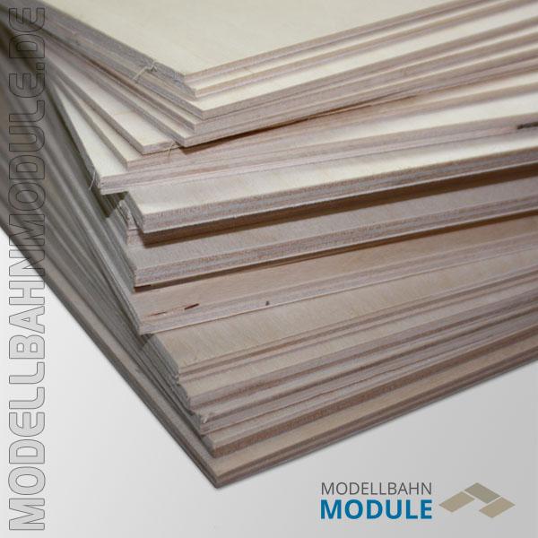 3 oder 6 mm Sperrholzplatten