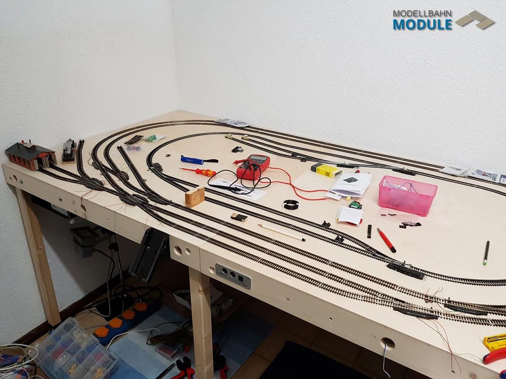 Strecke mit Tillig TT Modellgleis